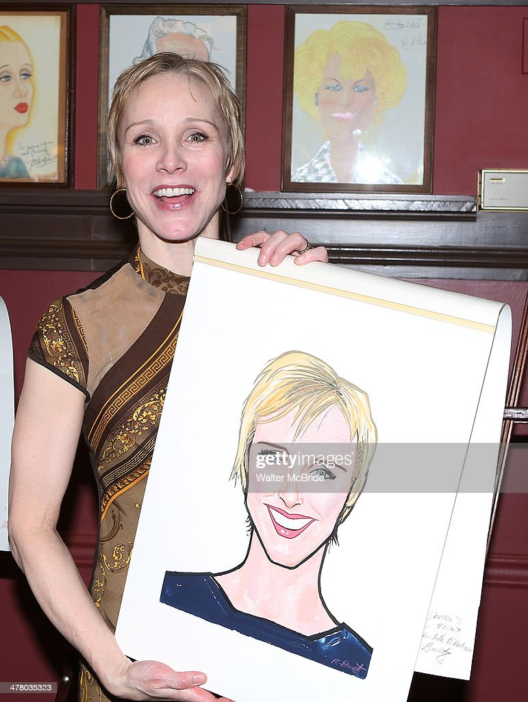 Charlotte d'Amboise attends the Caricature Unveiling for Broadway's 'Pippin' at Sardi's on March 11 2014 in New York City