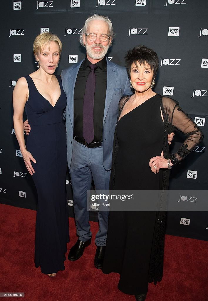 Charlotte d'Amboise Terrence Mann and Chita Rivera attend the Jazz At Lincoln Center 2016 Gala at Jazz at Lincoln Center on May 9 2016 in New York...