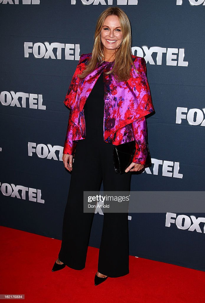 Charlotte Dawson attends the 2013 Foxtel Launch at Fox Studios on February 20, 2013 in Sydney, Australia.