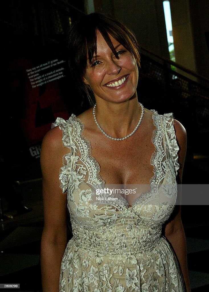Charlotte Dawson attends the Australian premiere of 21 Grams on December 14 2003 at the Deny Opera Quays in Sydney Australia