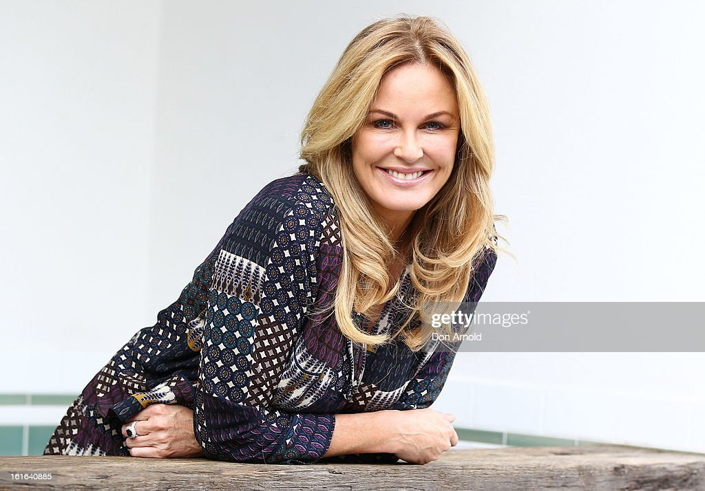 Charlotte Dawson poses during a photo call with the judges of the Cleo Bachelor of the Year at Mrs Sippy on February 14 2013 in Sydney Australia