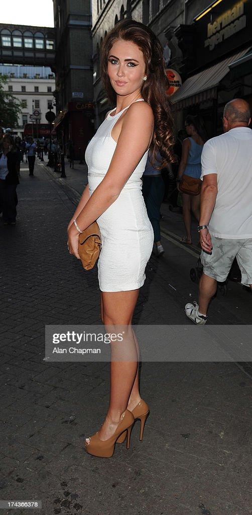 Charlotte Dawson sighting Charing Cross on July 24 2013 in London England