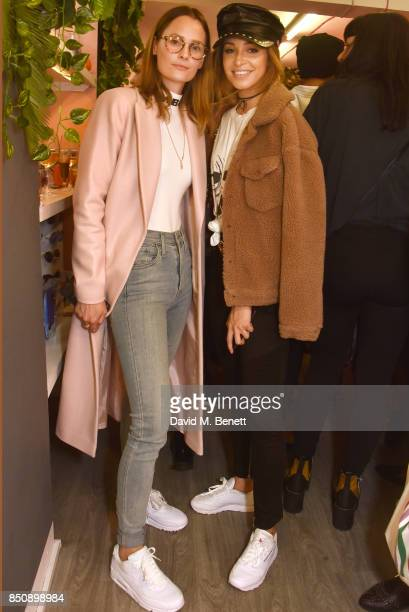 Charlotte de Carle and Danielle Peazer attend the Starbucks x Skinnydip PSL Season party at 29 Neal Street on September 21 2017 in London England