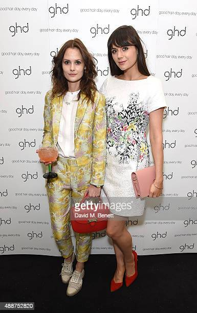 Charlotte de Carle and Lilah Parsons attend the Launch of GHD SM Pop Up Studio for London Fashion Week on September 17 2015 in London England