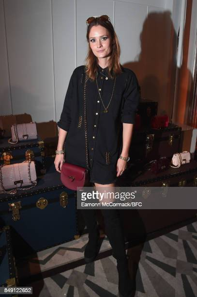 Charlotte de Carle attends the Aspinal of London presentation during London Fashion Week September 2017 on September 18 2017 in London England