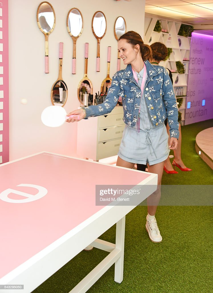 Charlotte de Carle attends the evian Live Young suite during Wimbledon 2016 at the All England Tennis and Croquet Club on June 27, 2016 in London, England.