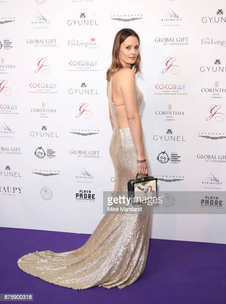Charlotte de Carle attends The Global Gift Gala London held at Corinthia Hotel London on November 18 2017 in London England