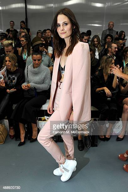 Charlotte De Carle attends the JeanPierre Braganza show during London Fashion Week Spring/Summer 2016 on September 18 2015 in London England