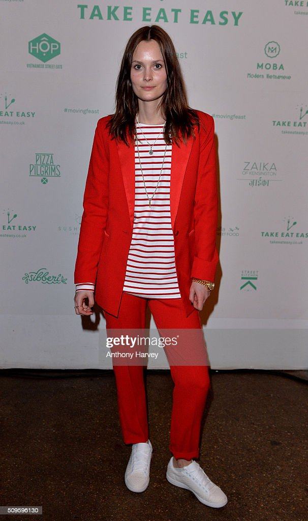 Charlotte De Carle attends the Moving Feast pop-up brought to you by Take Eat Easy at Protein on February 11, 2016 in London, England.