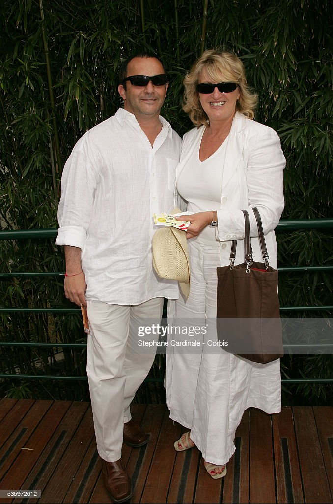 Charlotte de Turckeim and date visit Roland Garros village during the 2005 French Open tennis.