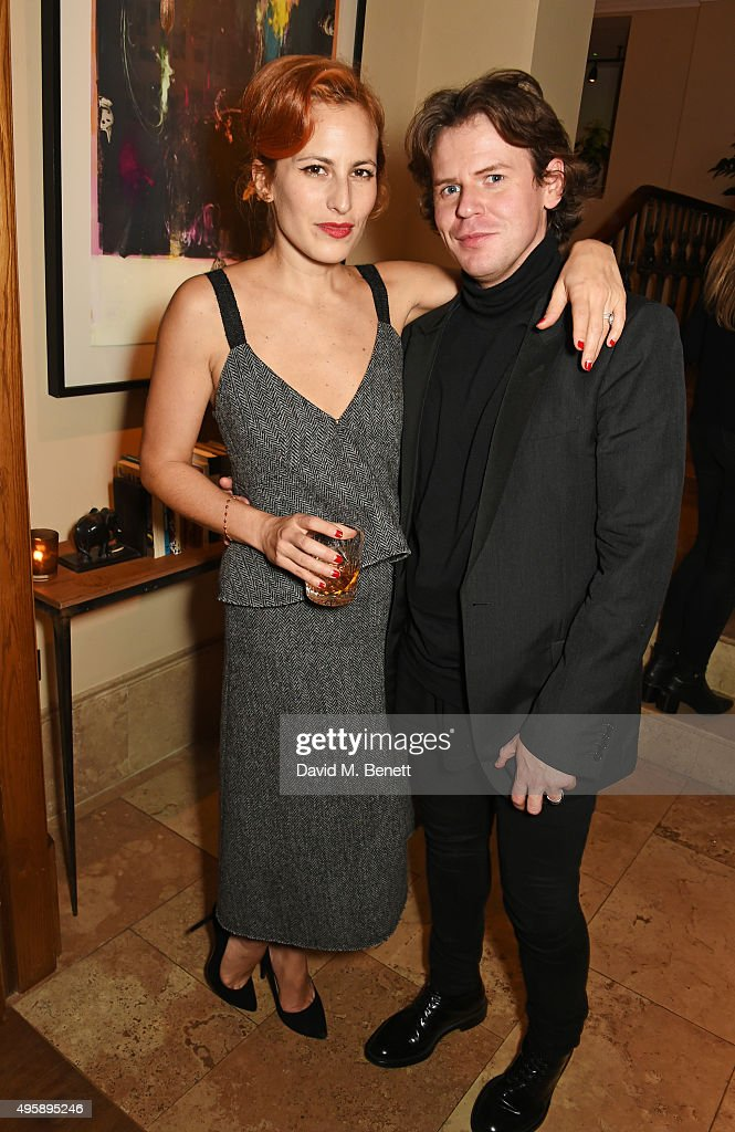 Charlotte Dellal and Christopher Kane attend a private dinner hosted by Alexa Chung to celebrate the launch of her app Villoid and her upcoming Elle...