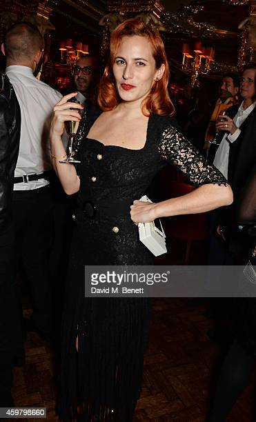 Charlotte Dellal attends a party in celebration of Edward Enninful in The Oscar Wilde Bar Hotel Cafe Royal on December 1 2014 in London England