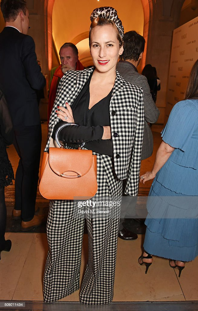 <a gi-track='captionPersonalityLinkClicked' href=/galleries/search?phrase=Charlotte+Dellal&family=editorial&specificpeople=2242560 ng-click='$event.stopPropagation()'>Charlotte Dellal</a> attends a private view of 'Vogue 100: A Century of Style' hosted by Alexandra Shulman and Leon Max at the National Portrait Gallery on February 9, 2016 in London, England.