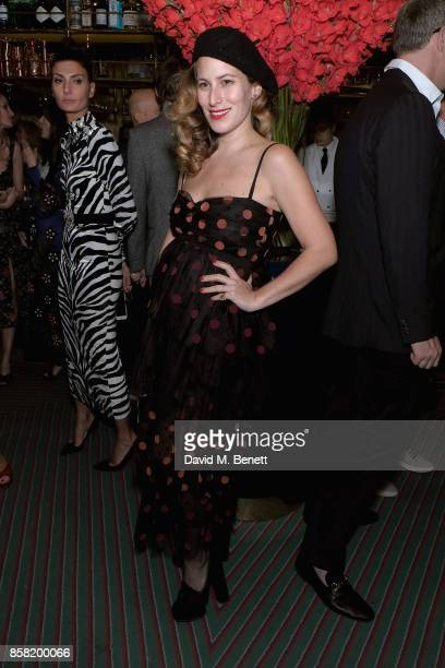 Charlotte Dellal attends Hugo Nathan Lauren Santo Domingo Wentworth Beaumont Dinner on October 5 2017 in London England