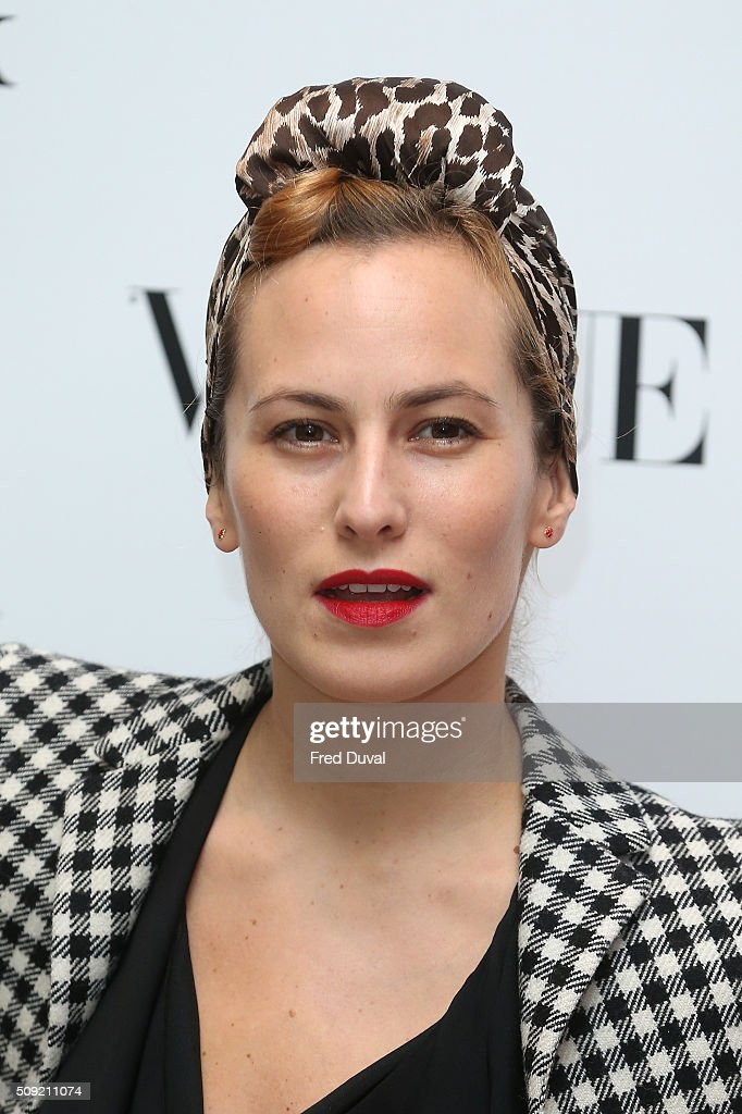 <a gi-track='captionPersonalityLinkClicked' href=/galleries/search?phrase=Charlotte+Dellal&family=editorial&specificpeople=2242560 ng-click='$event.stopPropagation()'>Charlotte Dellal</a> attends the opening of Vogue100 : A century of Style at National Portrait Gallery on February 9, 2016 in London, England.