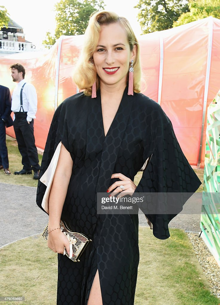 Charlotte Dellal attends The Serpentine Gallery summer party at The Serpentine Gallery on July 2 2015 in London England