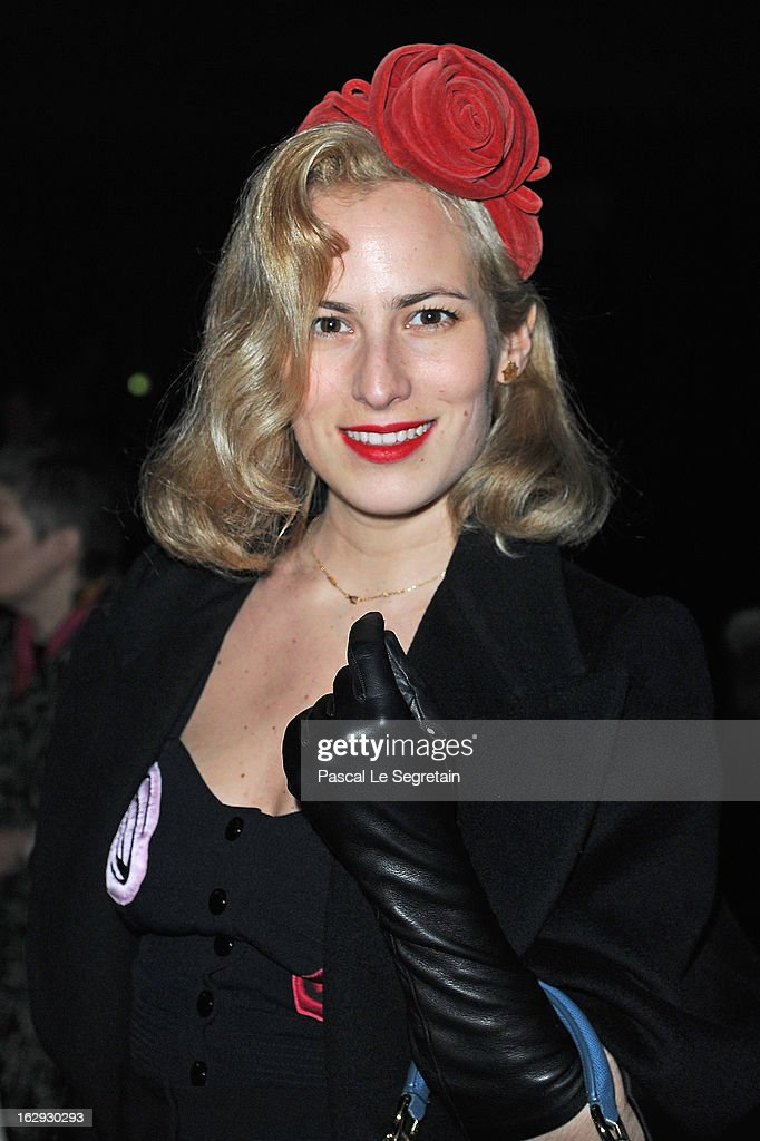 <a gi-track='captionPersonalityLinkClicked' href=/galleries/search?phrase=Charlotte+Dellal&family=editorial&specificpeople=2242560 ng-click='$event.stopPropagation()'>Charlotte Dellal</a> attends the Sonia Rykiel Fall/Winter 2013 Ready-to-Wear show as part of Paris Fashion Week at Halle Freyssinet on March 1, 2013 in Paris, France.