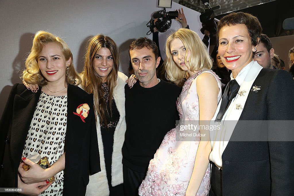 <a gi-track='captionPersonalityLinkClicked' href=/galleries/search?phrase=Charlotte+Dellal&family=editorial&specificpeople=2242560 ng-click='$event.stopPropagation()'>Charlotte Dellal</a>, Bianca Brandolini, Giambattista Valli, Elena Perminova and <a gi-track='captionPersonalityLinkClicked' href=/galleries/search?phrase=Andrea+Dellal&family=editorial&specificpeople=2192777 ng-click='$event.stopPropagation()'>Andrea Dellal</a> pose backstage at the Giambattista Valli Fall/Winter 2013 Ready-to-Wear show as part of Paris Fashion Week on March 4, 2013 in Paris, France.