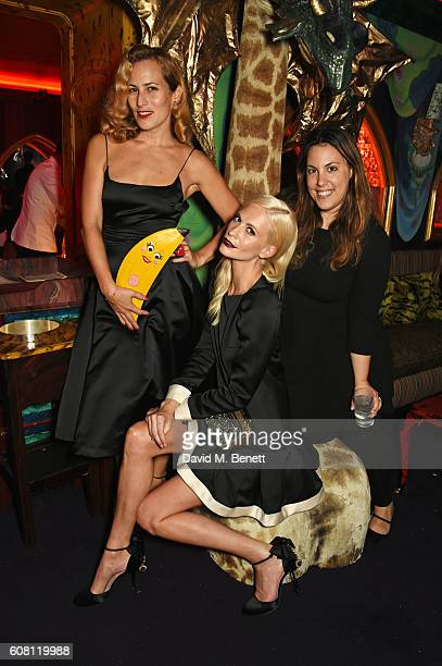 Charlotte Dellal Poppy Delevingne and Mary Katrantzou attend the LOVE Magazine and Marc Jacobs LFW Party to celebrate LOVE 165 collector's issue of...