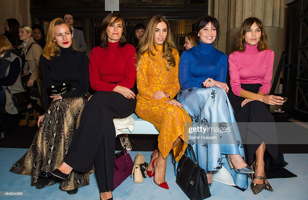 Charlotte Dellal Yasmin Le Bon Amber Le Bon Daisy Lowe and Alexa Chung attend the Emilia Wickstead show during London Fashion Week Fall/Winter...