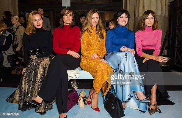 Charlotte Dellal Yasmin Le Bon Amber Le Bon Daisy Lowe and Alexa Chung attend the Emilia Wickstead show during London Fashion Week Fall/Winter...