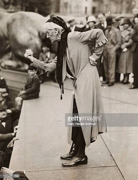 Charlotte Despard speaking at antifascist rally London c 1930s Gelatin silver print Photograph by James Jarche 'Mrs Despard the Suffragette speaking...
