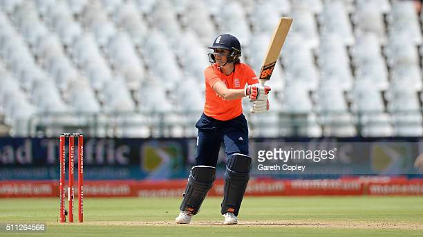 Charlotte Edwards of England bats during the 2nd T20 International match between South Africa Women and England Women at Newlands on February 19 2016...