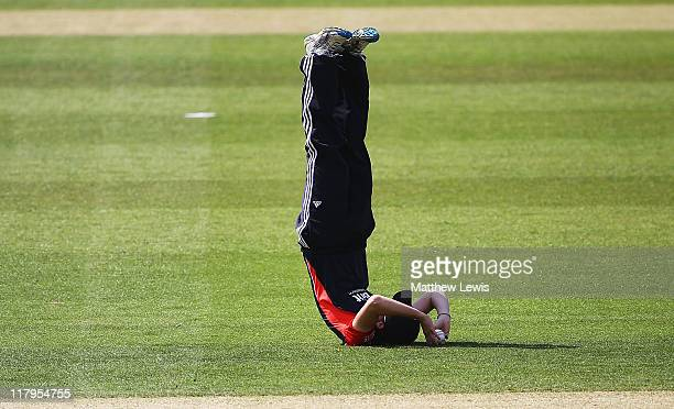Charlotte Edwards of England catches Lucy Doolan of New Zealand during the NatWest Women's Quadrangular Series match between England and New Zealand...
