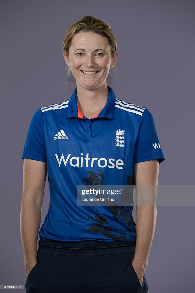<a gi-track='captionPersonalityLinkClicked' href=/galleries/search?phrase=Charlotte+Edwards&family=editorial&specificpeople=618915 ng-click='$event.stopPropagation()'>Charlotte Edwards</a> of England poses for a portrait at the National Cricket Performance Centre on July 1, 2015 in Loughborough, England.