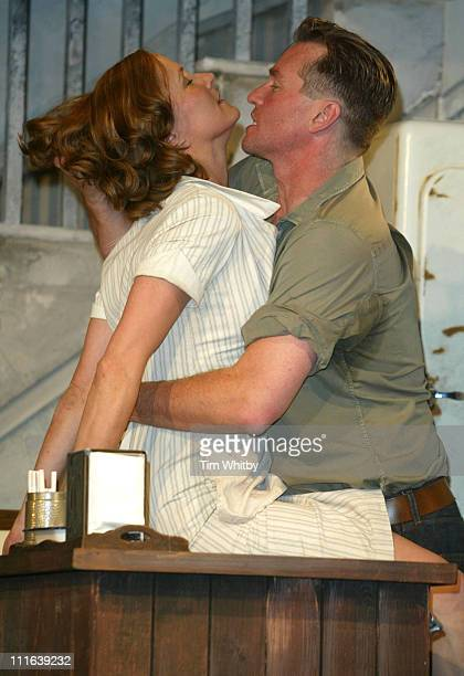 Charlotte Emmerson and Val Kilmer during 'The Postman Always Rings Twice' London Photocall at Playhouse Theatre in London Great Britain