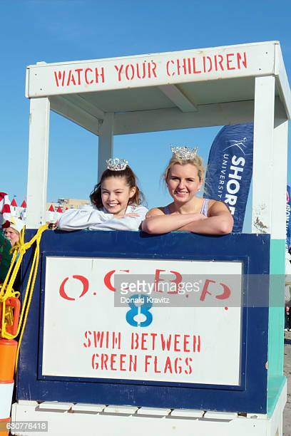 Charlotte Erickson Little Miss Ocean City and McKayla Perry Miss Ocean City join more than 500 brave participants as they prepare torun into the...