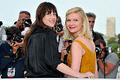 Charlotte Gainsbourg and Kirsten Dunst at the photo call for 'Melancholia' during the 64th Cannes International Film Festival