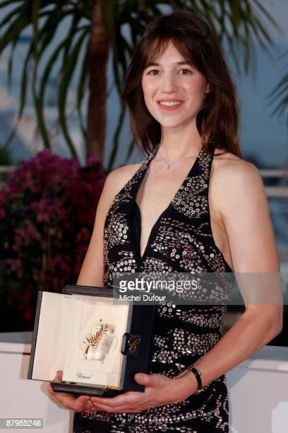 Charlotte Gainsbourg attend the Palme d'Or Award Ceremony Photocall at the Palais des Festivals during the 62nd Annual Cannes Film Festival on May 24...