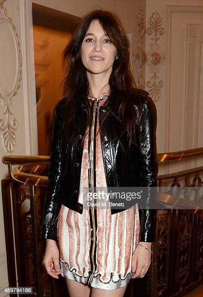 Charlotte Gainsbourg attends the British Fashion Awards at the London Coliseum on December 1 2014 in London England