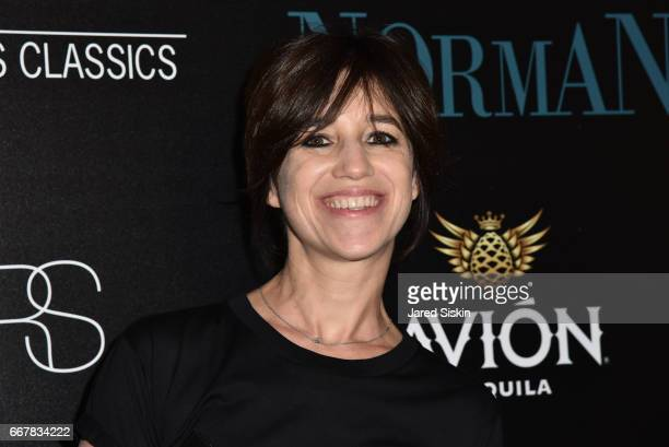 Charlotte Gainsbourg attends The Cinema Society with NARS AVION host a screening of Sony Pictures Classics' 'Norman' on April 12 2017 in New York City