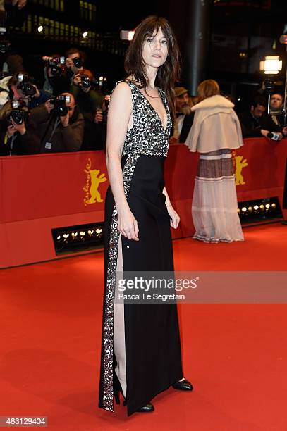 Charlotte Gainsbourg attends the 'Every Thing Will Be Fine' premiere during the 65th Berlinale International Film Festival at Berlinale Palace on...
