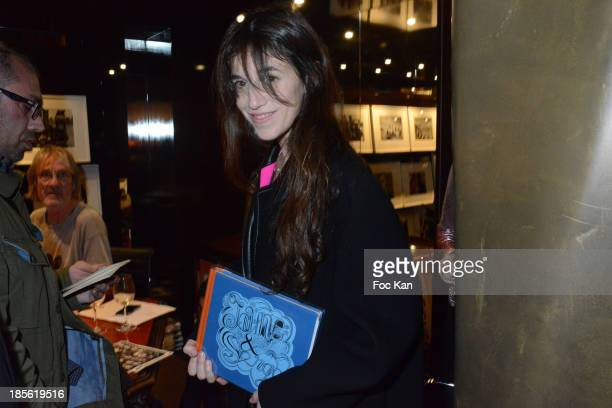 Charlotte Gainsbourg attends the 'Jane Et Serge A Family Album' Book Signing At Taschen Odeon on October 22 2013 in Paris France