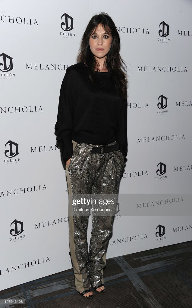 Charlotte Gainsbourg attends the 'Melancholia' premiere after party during the 49th annual New York Film Festival at the Stone Rose Lounge on October...