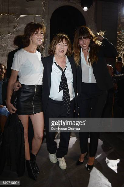 Charlotte Gainsbourg Jane Birkin and Lou Doillon attend the Saint Laurent show as part of the Paris Fashion Week Womenswear Spring/Summer 2017 on...