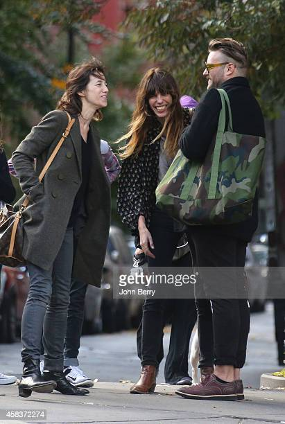 Charlotte Gainsbourg Lou Doillon and a friend are seen strolling around Greenwich Village in Manhattan on October 30 2014 in New York City
