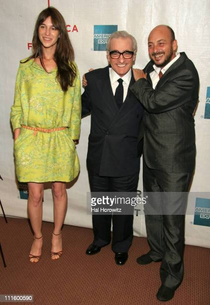 Charlotte Gainsbourg Martin Scorsese and Emanuele Crialese director