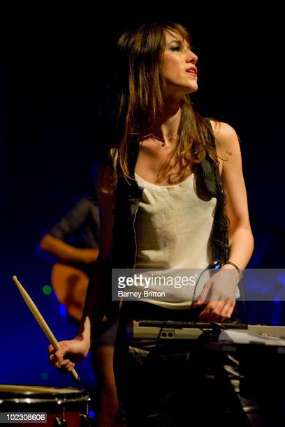 Charlotte Gainsbourg performs on stage at Shepherds Bush Empire on June 22 2010 in London England
