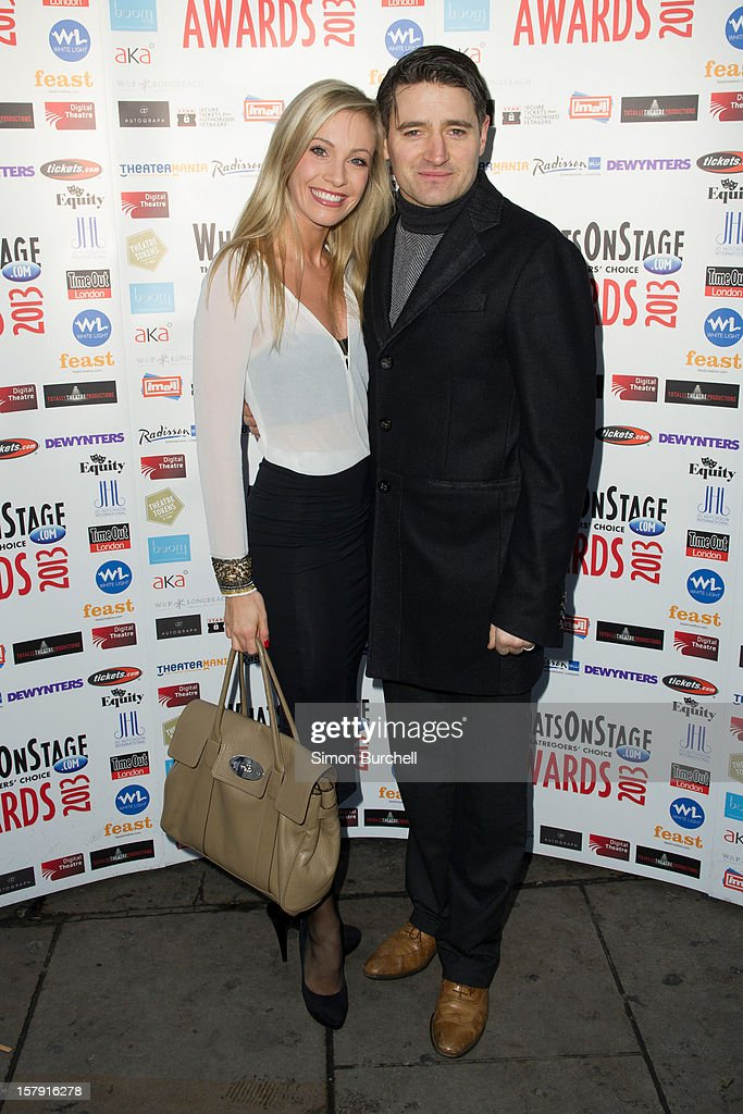 Charlotte Gooch and Tom Chambers attends the Whatsonstage.com Theare Awards nominations launch at Cafe de Paris on December 7, 2012 in London, England.