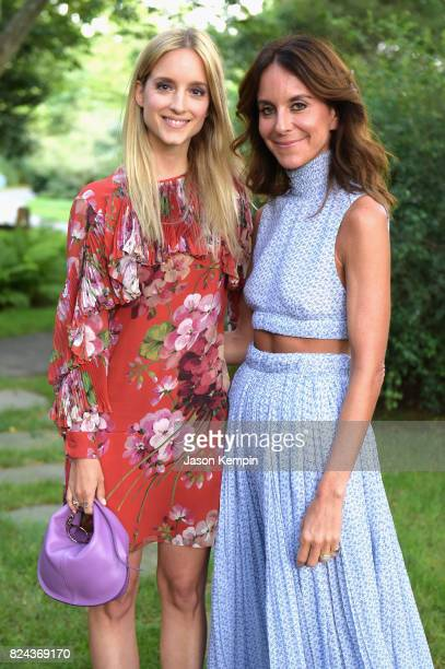 Charlotte Groeneveld and NetAPorter president Alison Loehnis attend The GOOD Foundation's Hamptons Summer Dinner cohosted by NETAPORTER on July 29...