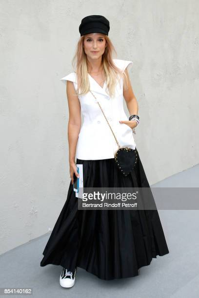 Charlotte Groeneveld attends the Christian Dior show as part of the Paris Fashion Week Womenswear Spring/Summer 2018 on September 26 2017 in Paris...