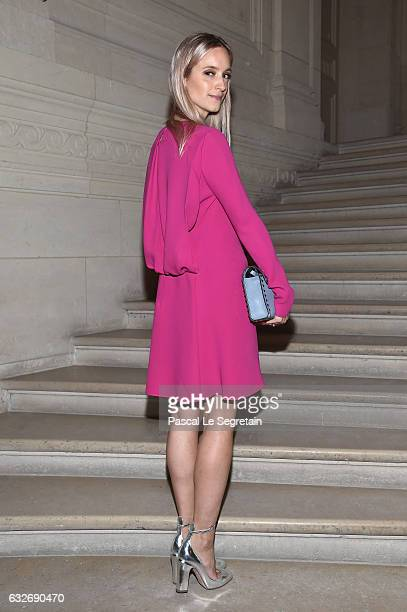 Charlotte Groeneveld attends the Valentino Haute Couture Spring Summer 2017 show as part of Paris Fashion Week on January 25 2017 in Paris France