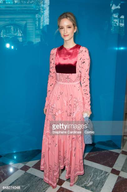 Charlotte Groeneveld attends the Valentino show as part of the Paris Fashion Week Womenswear Fall/Winter 2017/2018 on March 5 2017 in Paris France