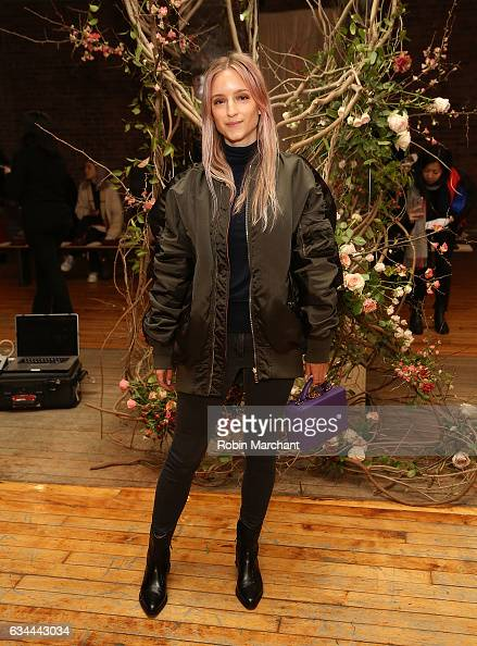 Charlotte Groeneveld attends Ulla Johnson Front Row during New York Fashion Week on February 9 2017 in New York City