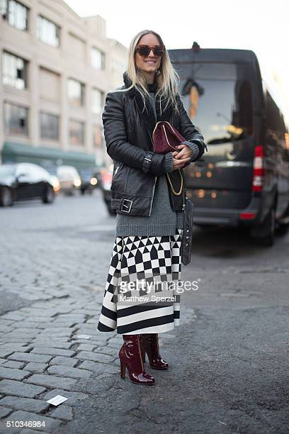 Charlotte Groeneveld is seen at Diane von Furstenberg during New York Fashion Week Women's Fall/Winter 2016 on February 14 2016 in New York City