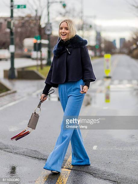 Charlotte Groeneveld seen outside Coach during New York Fashion Week Women's Fall/Winter 2016 on February 16 2016 in New York City